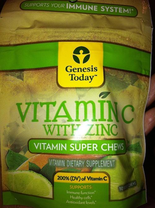 Vitamin C with Zinc Chews by Genesis,