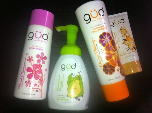 Gud by burt's bees bath and body products