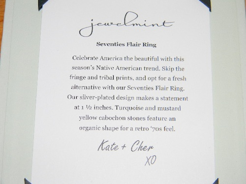 Jewelmint Silver Seventies Flair Ring