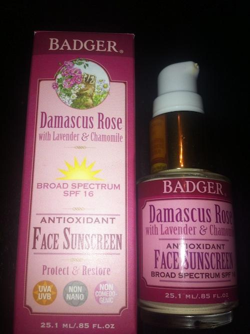 Badger Balm Damascus Rose SPF 16 Face Sunscreen Lotion