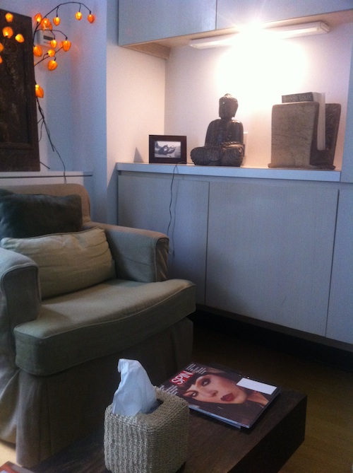 Lounge area at Exhale Spa in New York City