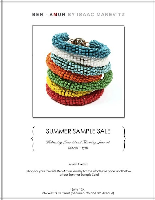 Ben-Amun Summer Sample Sale