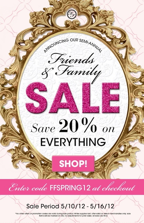 Too Faced Friends and Family Sale 2012