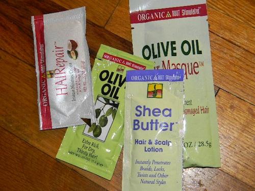 May 2012 curlbox sample packets including Organic Root Stimulator