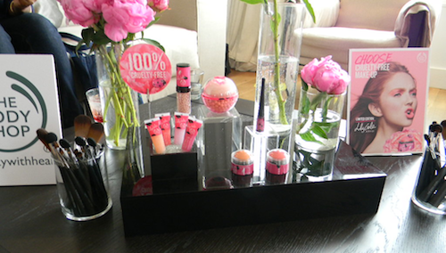 The Body shop collaboration with advocate Lily Cole for their new makeup line for 2012