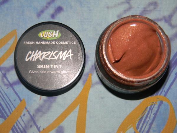 LUSH Handmade cosmetics, new makeup Emotional Brilliance, Charisma Tint. LUSH products are 100% vegetarian, 81% vegan, and 70% preservative-free.