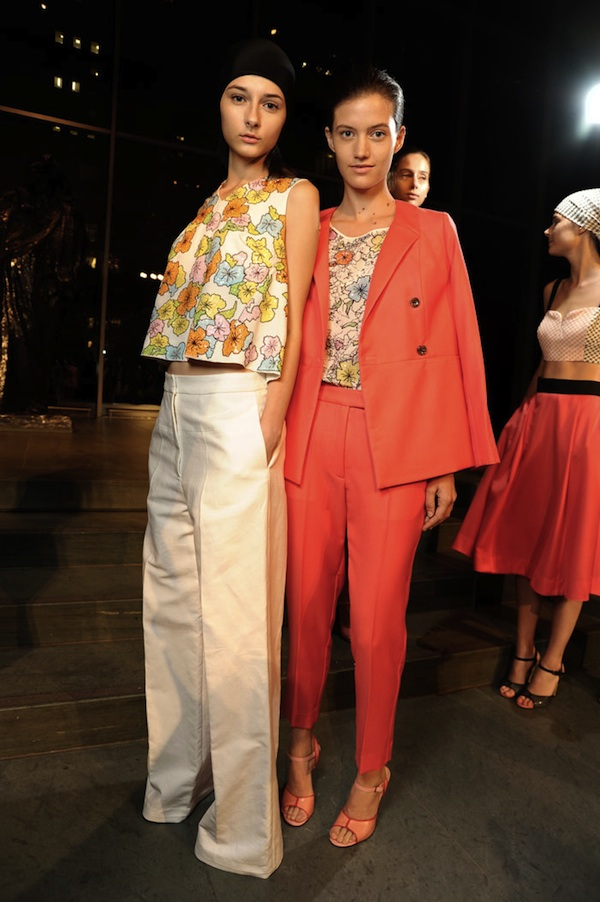 Mercedes-Benz Fashion Week Backstage at Tanya Taylor Spring 2013