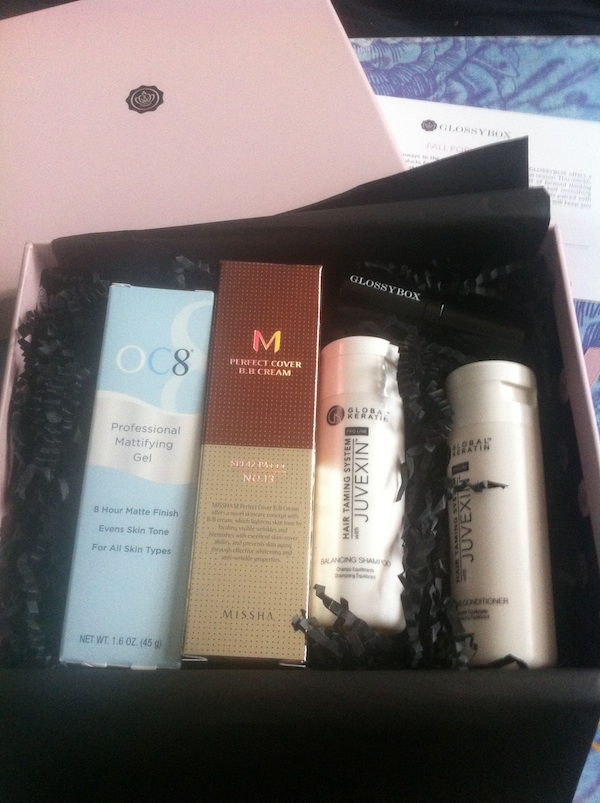 Inside the September 2012 GlossyBox: Fall Forward