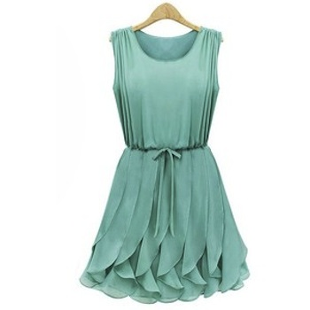 Dresses for spring 2013: green sleeveless flowy dress