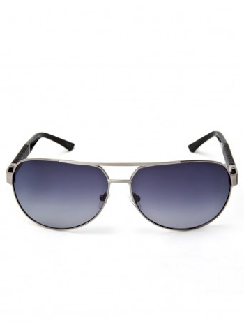 Andrew Marc Metal aviators with braid detail for women.