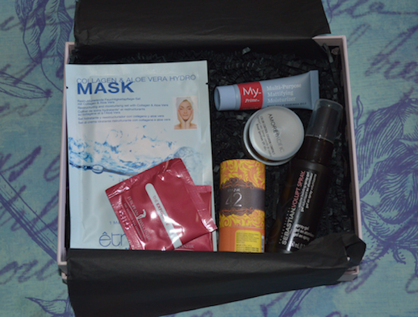 what's inside May Glossybox A Year of beauty anniversary