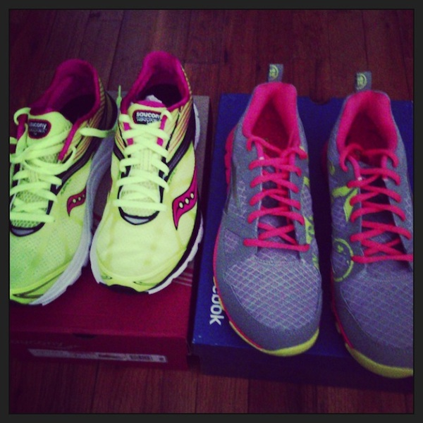 Saucony and Reebok sneakers from Fitness Magazine