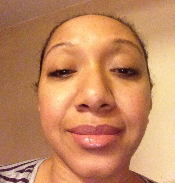 Minimal holiday makeup look from Mary Kay
